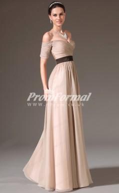 EBD009 Off The Shoulder Champange Bridesmaid Dresses