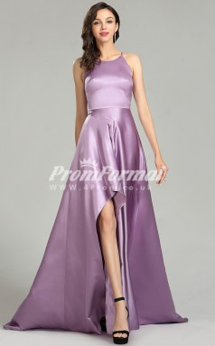 EBD010 Halter Purple Bridesmaid Dresses