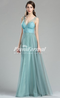 EBD015 Straps Green Bridesmaid Dresses