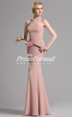 EBD019 Strapless Nude Pink Bridesmaid Dresses