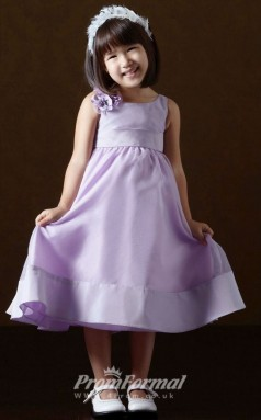 Cute A-line Ankle-length Lilac Flower Girls Dresses FGD417