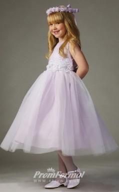 Cute Princess Ankle-length Lalic Flower Girls Dresses FGD431