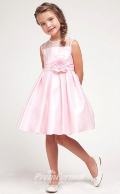Cute A-line Short/Mini Pink Flower Girls Dresses FGD433