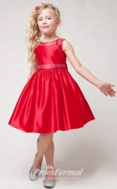 Cute A-line Short/Mini Ruby Flower Girls Dresses FGD438