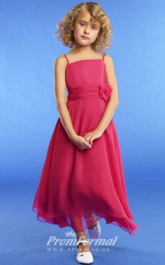 New Style A-line Ankle-length Ruby Flower Girls Dresses FGD440