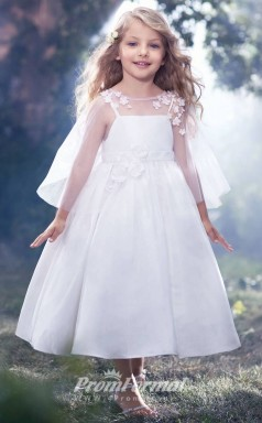 New Style Princess Ankle-length White Kids Wedding Dresses FGD444