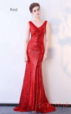 Evening Sequins V-neck Clubwear Dress Car Show Models BX-G107