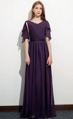 Grape Child Bridesmaid Dress Flower Girl Dress JFGD071