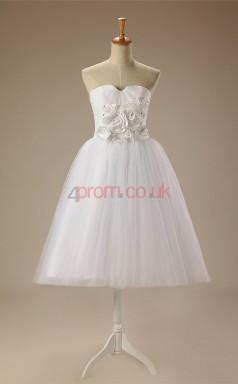 White Tulle Princess Strapless Sleeveless Cocktail Dress(JT4-JMD136)