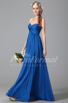 A-line Sweetheart Long Light Royal Blue 100D Chiffon Evening Dresses(PRJT04-1830)