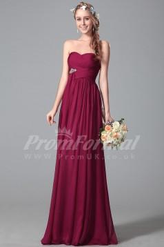 A-line Sweetheart Long Maran 100D Chiffon Evening Dresses(PRJT04-1837)