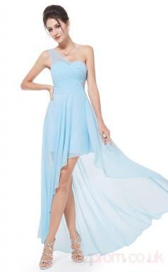 A-line Sweetheart Neckline Hi Low Sky Blue Chiffon Prom Dresses(PRJT04-1914-D)