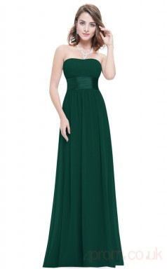 A-line Strapless Long Dark Green Sequined Cocktail Dresses(PRJT04-1930-H)