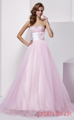 Blushing Pink Tulle Sweetheart Floor-length Princess Quincenera Dress(JT2023)