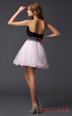 Ivory Tulle A-line Short Sweetheart Graduation Dress(JT2097)