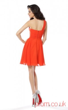 Tomato Tulle A-line Mini Sweetheart Graduation Dress(JT2323)