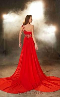 Trumpet/Mermaid Chiffon Red Sweetheart Floor-length Evening Dress(JT2615)