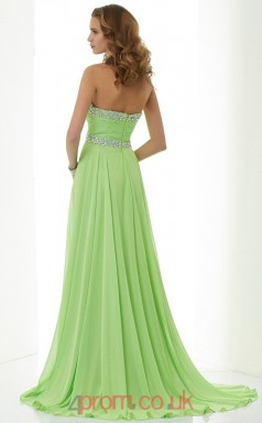 Dark Sage Chiffon A-line Sweetheart Floor-length Evening Dresses(JT2755)