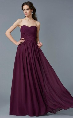 Ivory Chiffon A-line Sweetheart Floor-length Prom Formal Dresses(JT2820)