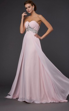 Dim Sage Chiffon A-line Sweetheart Floor-length Bridesmaid Dresses(JT2825)