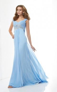 Light Pool Chiffon A-line Sweetheart Floor-length Bridesmaid Dresses(JT2841)