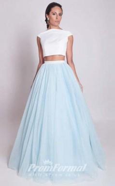 Simple Two Piece Lavender Long Prom Dresses JT2PUK009