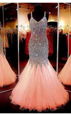 Sweetheart Neckline Mermaid Open Back Beading Prom Formal Dress JTA3011