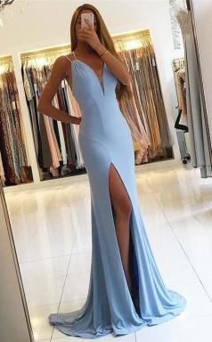 Gorgeous Sleeveless Mermaid Evening Dress Slit Long Prom Dress   JTA4181