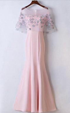 Mermaid Floor Length  Affordable Pink Prom Dress Party Dress JTA5171