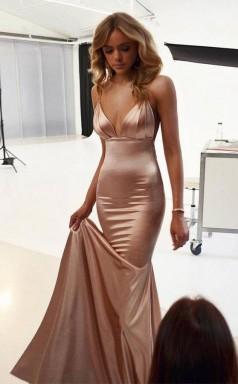 Spaghetti Straps Mermaid Elegant Long Bridesmaid Prom Dress JTA8151