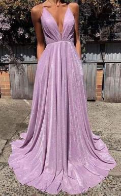 Sexy Deep V Neck Backless Prom Dress Sparkle Long Prom Dress JTA9901