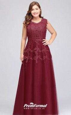 Burgundy Long  Illusion Bridesmaid/Party Dresses PPBD002