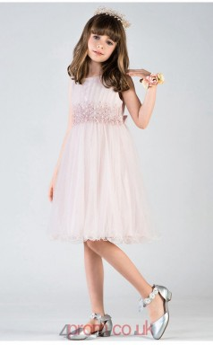 Chic Kids Girls Pink A Line Prom Dress ACH008