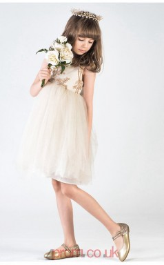 Sweet Champagne Kids Girls Prom Dress ACH009