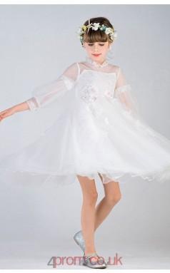 Flower Girls Kids Girls Illusion Prom Dress ACH012