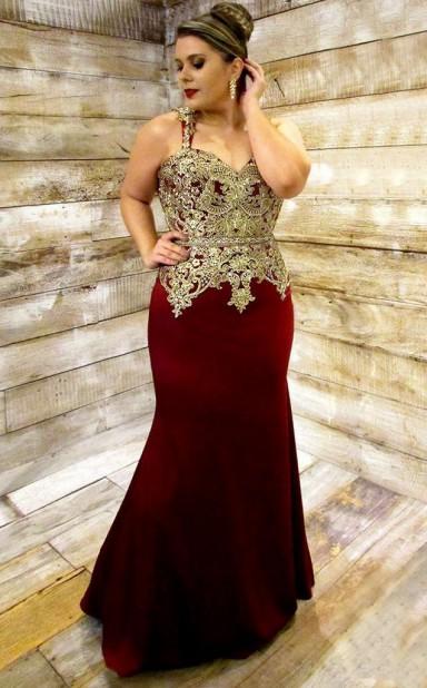 9d75b9cc0ea Free Shipping Dark Burgundy Satin Trumpet Mermaid Straps Sleeveless  Floor-length Plus Size Prom Dress(PRPSD04-114) - 4prom.co.uk