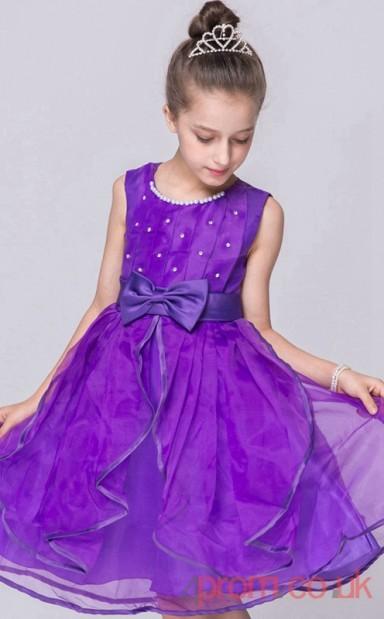 Blue Violet Organza Princess Jewel Knee-length Children s Prom Dress(FGD255)  - 4prom.co.uk 5e6d696a8
