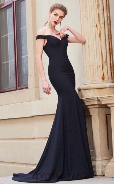 d7f16009d2b Trumpet Mermaid Matte Satin Black Off The Shoulder Long Formal Prom Dress(JT2646)  - 4prom.co.uk
