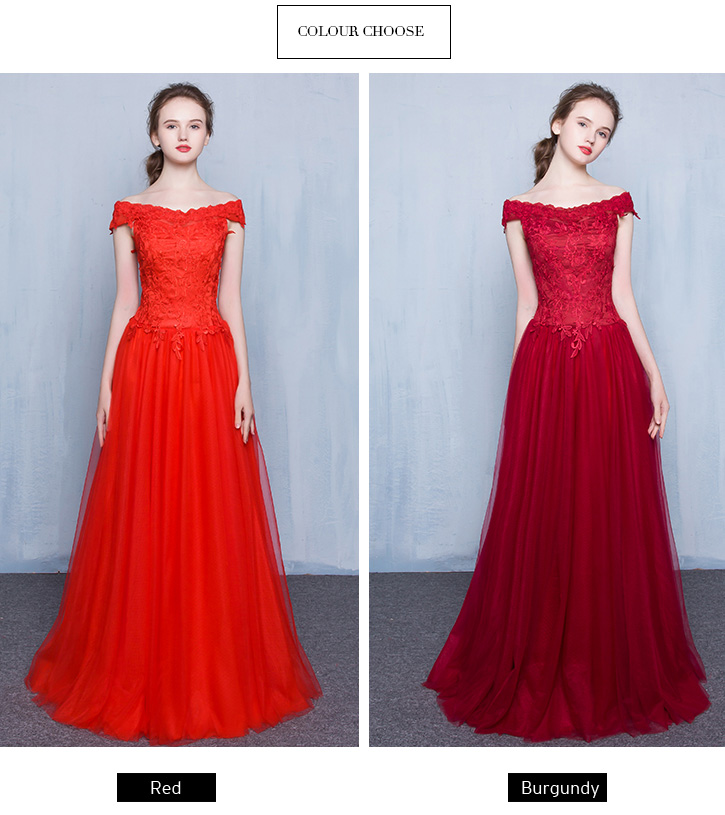 Off The Shoulder Floor-length Prom Dresses with Short Sleeves TB039 details 01