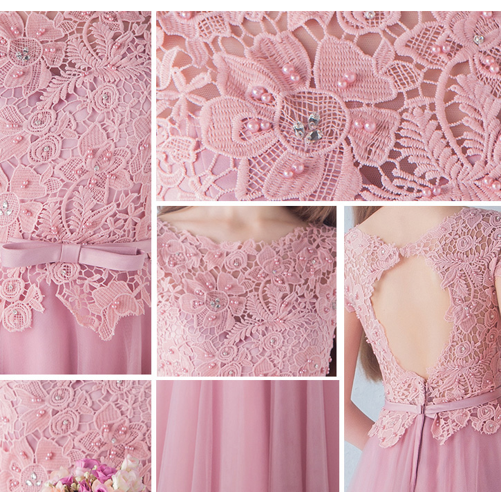 lace Prom Dresses with Short Sleeves TB040 details 05